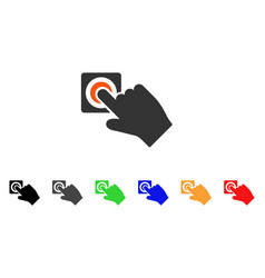 push alarm button icon vector image