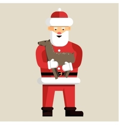 Santa clause ready for christmas vector