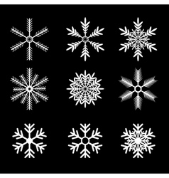 Snowflakes set white snow flake icon set vector
