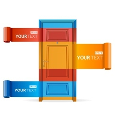 Speech template on door vector
