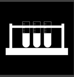 Test tube the white color icon vector