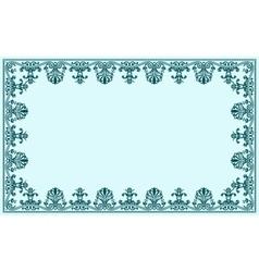 Vintage baroque decor frame ornate vector image vector image