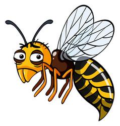 Wasp with sad eyes vector