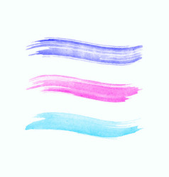 watercolor stroke isolated on white background vector image