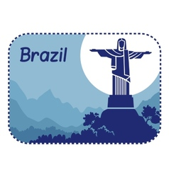 with Christ the Redeemer in Brazil vector image