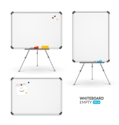 Whiteboard Set Different View vector image