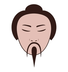 East asian man icon image vector