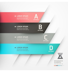 Abstract origami options banner vector image