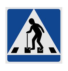 Traffic sign pedestrian crossing elderly vector