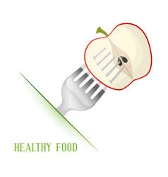 Apple healthy food diet vector