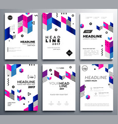 presentation booklet covers - template pages set vector image