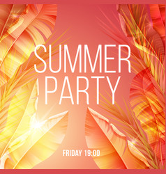 Bright exotic natural summer party poster vector