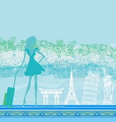 Traveling the world vector