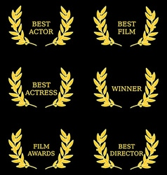 Film awards vector