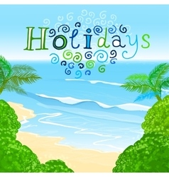 01 holidays sea vector