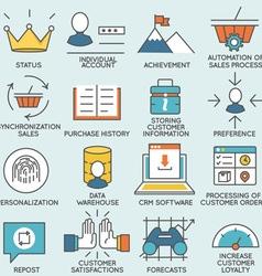 Customer relationship management - part 1 vector image