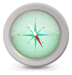 Metal compass vector