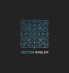 Abstract technology logo design template vector