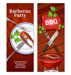 Barbecue vertical banners vector