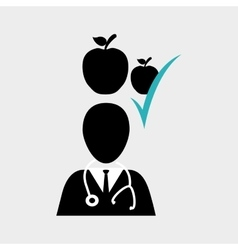 Medical design care icon health concept vector