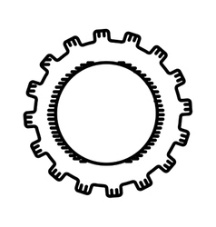 Gear wheel isolated icon design vector