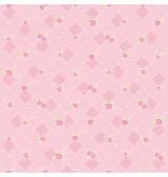 Cute seamless background with flowers vector