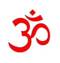 Red om symbol aum logo vector