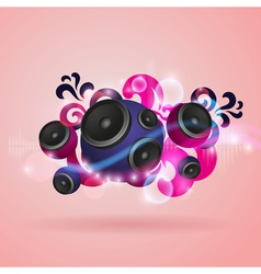 Abstract music background with speakers vector image vector image