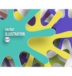 background of color abstract snowflakes vector image vector image