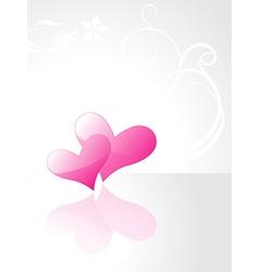 Beautiful shiny purple heart background vector image vector image