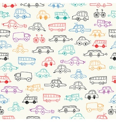 Cars doodles set vector image vector image