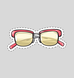 Classic glasses icon patch isolated cut out vector