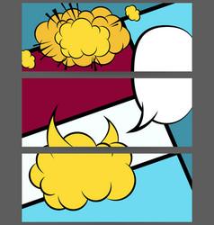 Comic balloon horizontal geometric banner vector