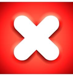 Cross mark symbol vector