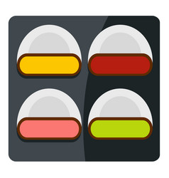 Different sushi icon isolated vector