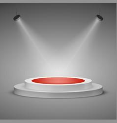 floodlit stage illuminated stage podium scene vector image