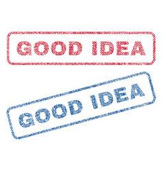 Good idea textile stamps vector