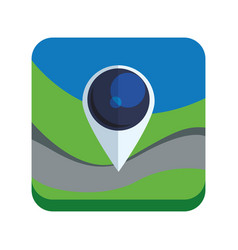 map pointer app vector image vector image