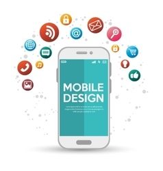 Mobile design with various application vector