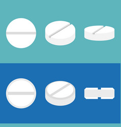 pill icons set flat design vector image vector image