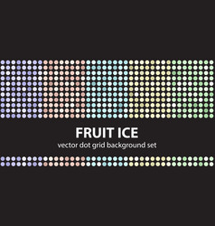 polka dot pattern set fruit ice seamless vector image