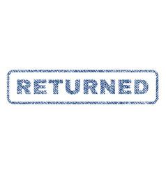 Returned textile stamp vector