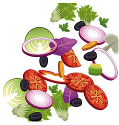 salad vegetables food nutrition image vector image