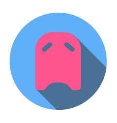 Swimming board icon vector