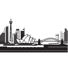 sydney skyline by day vector image