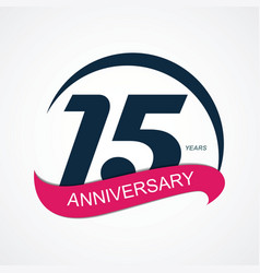 Template logo 15 anniversary vector