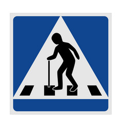 Traffic sign pedestrian crossing elderly vector