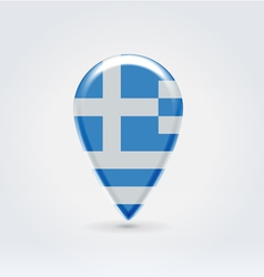 Greek icon point for map vector image