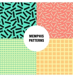 Retro vintage 80s or 90s fashion style memphis vector