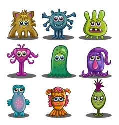 Big set of cute cartoon monsters vector